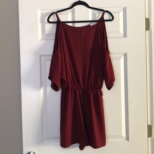 NWT Cold shoulder romper from Pink Lily Boutique
